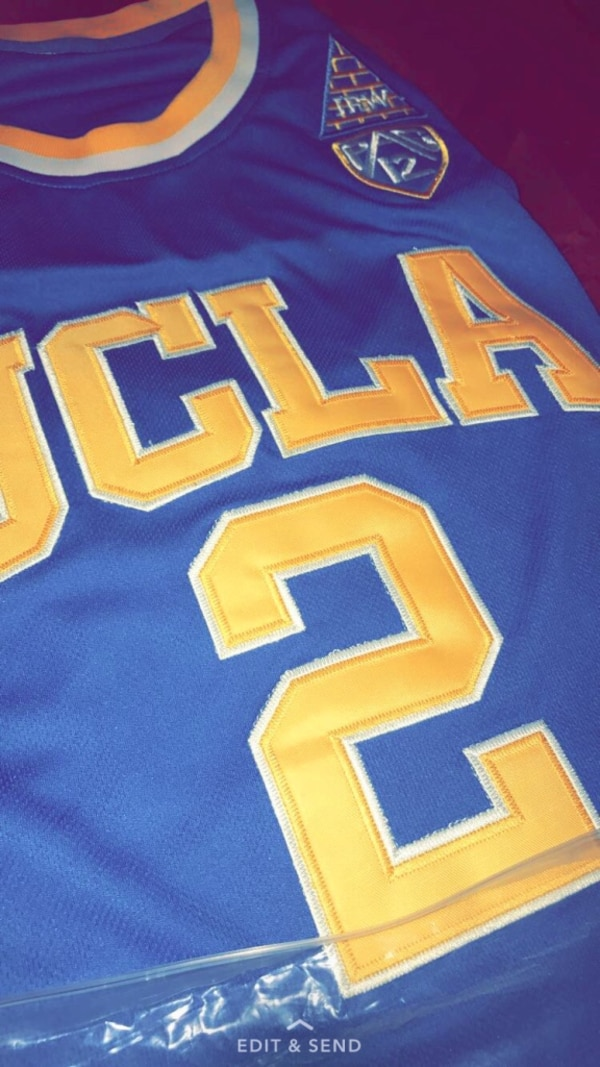 728365b2c5d Used blue and yellow UCLA number 2 Lonzo Ball basketball jersey for sale in  Brandon - letgo