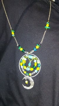 silver-colored necklace with round blue and green beads pendant Wasilla, 99654