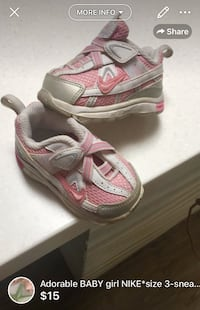 Adorable BABY girl NIKE*size 3-sneaker barely used London, N5W 6E2