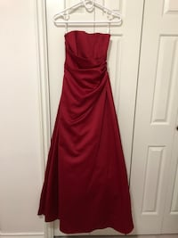 David's bridal red gown