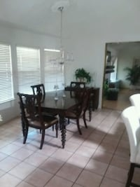 Beautiful solid wood Dining Set and small Buffet