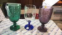 3 Goblet green and purple and blue and white Bradford West Gwillimbury, L3Z 3J5