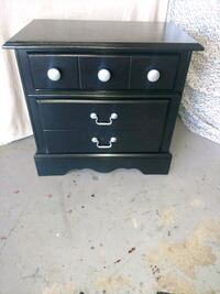 Refurnished black wooden night stand Orland Park