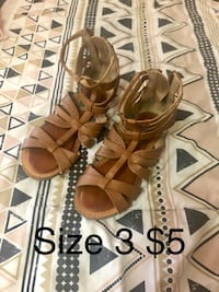 pair of brown leather open-toe sandals Turlock, 95380