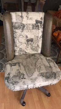 brown and gray floral fabric sofa chair Los Angeles, 91601
