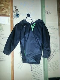 black zip-up jacket swiss 1451 mi