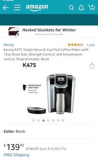 black and gray Keurig coffee maker screenshot Vienna, 22180