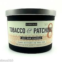 PADDYWAX NO. 8 TOBACCO & PATCHOULI 3-WICK 12 OZ. SOY WAX CANDLE --BRAND NEW!! Winter Haven