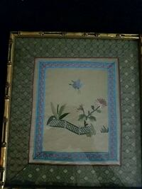 brown and blue floral painting with brown wooden frame Woodbridge, 22192