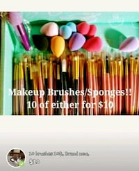 10 Makeup Brushes or Sponges for $10!!