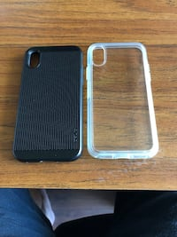 Two cases for iPhone X, Otterbox Symetry clear and Obliq Rugged . Very Good Condition  Vernon, V1T 8H4