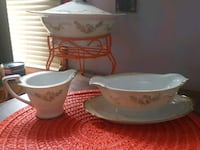 white and green ceramic teacup set Cleveland, 44109