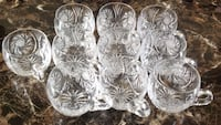 Pinwheel Clear cut crystal glass cup Laval, H7R 5S8