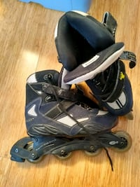 pair of black-and-gray inline skates Montreal, H4G 2Y7