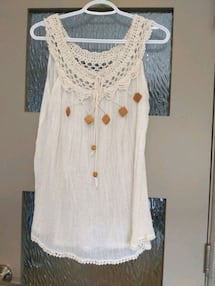 Brand new crocheted bikini cover never worn size fits all..I bought at
