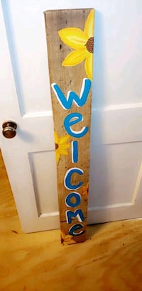 Welcome sign hand painted Bryan