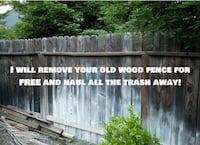 Wood Fence removal for FREE! Bell Gardens