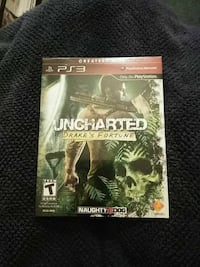 Uncharted PS3 game case