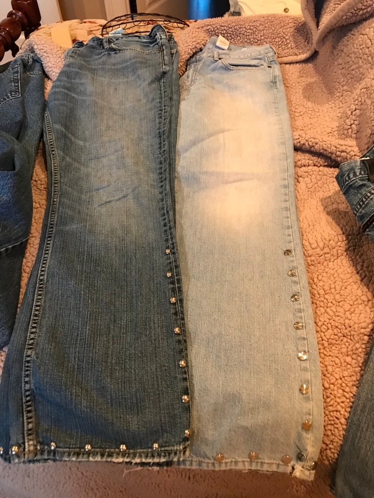 Photo Men's Jeans Lucky and Old Navy.