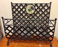Metallic Brown Wicker Design Magazine Rack Winnipeg, R3E 1Y6