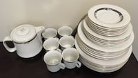 Ceramic Set of 6 dishes/plate and coffee/tea cups