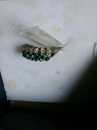 silver and green gemstone ring in box Taylorsville, 40071