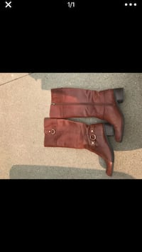 brown leather knee high boots Ames, 50014