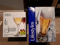 4 Wine Glasses/4 Pilsner Glasses Combo Sale