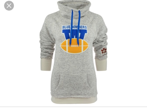 gray Blue Bombers pullover hoodie screenshot
