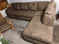 brown suede sectional sofa Mississauga