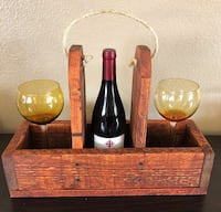 Wine bottle and wine glass holder/tote. Nice Mother's Day gift! Albuquerque, 87113