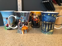 Mcintosh Fine Bone China -  famous paintings Set Of 4 Mugs Courtice, L1E 0H5