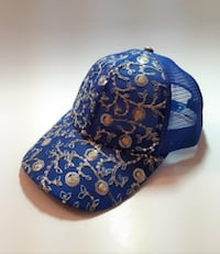 Blue Cap/hat with Embroidery (women)