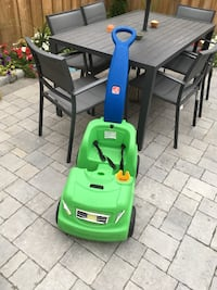 green and blue Little Tikes cozy coupe Ajax, L1Z 0R1