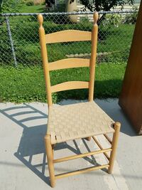 Light wood tall back chair (only 1 available)