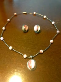 Pink Necklace with Earrings Jenks, 74037