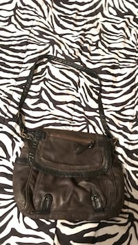 c345c3a44e56 Brown and dark brown converse all star purse 1 zipper pocket and 2 more  pockets.