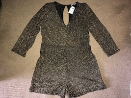 Charlotte Russe Ladies Shimmery Shorts Jumpsuit- NEW
