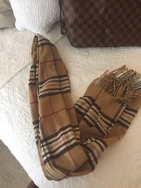 brown, white, and black plaid tassel scarf Arlington, 22201