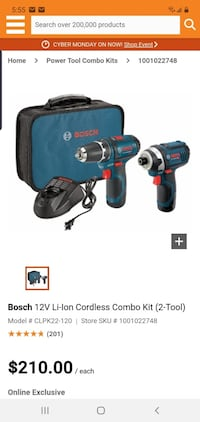 Bosch 12v combo kit great christmas present