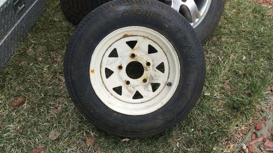 Used utility trailer tire in Littleton