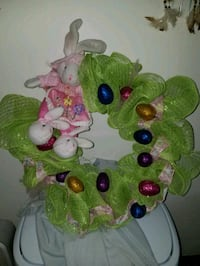 green and multicolored Easter wreath Darien, 60561