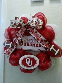 Extra Large Custom Made OU Sports Wreath Norman, 73072