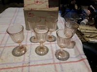 Cordial glasses never used boxed Toronto, M9C 4K9