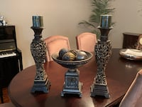 Candelabras and matching decorative bowl and balls Vaughan, L4H 1S9