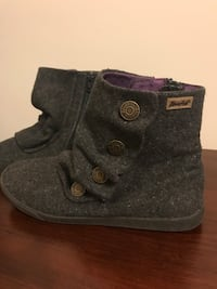 Gray women's wool ankle boots Inwood, 25428