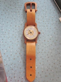 Hand Crafted Wood Wrist Watch Desk and Wall Clock