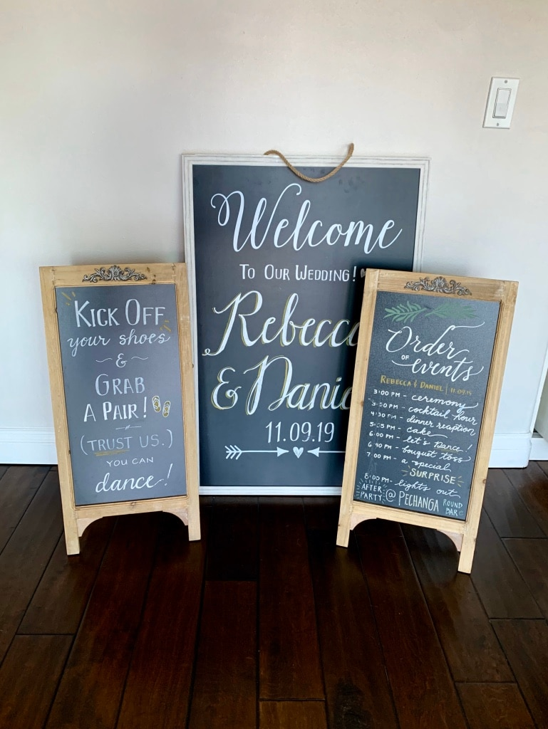 Photo Decorative Chalkboards - used once at wedding! NEW