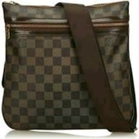 brown and black Louis Vuitton leather crossbody bag Las Vegas, 89122