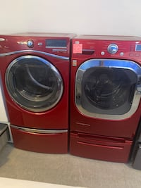 Mix and match washer and dryer set with pedestal working perfectly  Baltimore, 21223